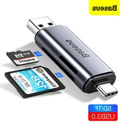 Baseus Type C USB-C Card Reader 2 in 1 USB 3.0 SD TF For Lap