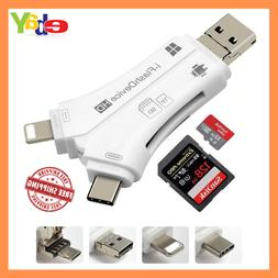 Best-selling!! 4-in-1 SD Memory Card Reader and Adapter