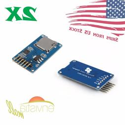 2pcs Micro SD TF Memory Card Reader Module with SPI interfac