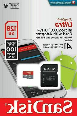 SanDisk Ultra 128GB UP TO100 MB/S Class 10 Micro SD TF Memor