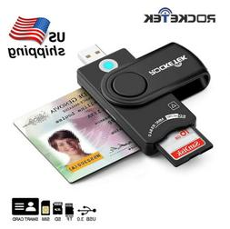 USB 2.0 Smart Card Reader DOD Military CAC Common Access Ban